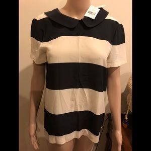 Black and white Kate spade blouse